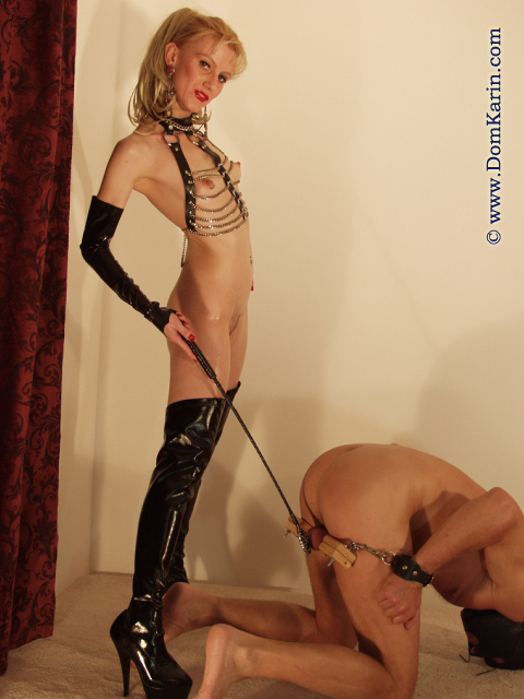 Handed fetish slave domination karin last the